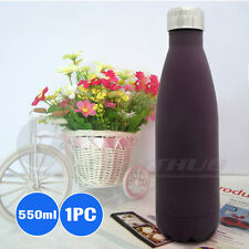 Cola Shaped Double Wall Sport Water Bottle School Travel Camping Hiking Kettle