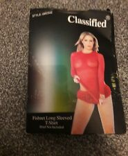Red fishnet dress or long top by classified one size