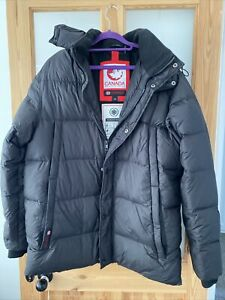 CANADA WEATHER GEAR BLACK GOOSE DOWN BOYS LARGE COAT