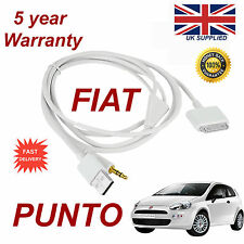 Fiat Punto Para Apple Iphone 3gs 4 4s Iphone Ipod Usb 3.5 Mm Aux Audio Cable Blanco