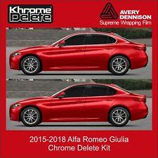 2015-2018 Alfa Romeo Giulia Chrome Delete Kit