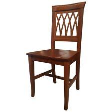 Sedia sedie griglia massello legno noce cucina casa ristorante sala arte povera
