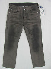 True Religion Basic Straight Jeans with Flaps -Grey End of Time-Size 34 NWT $255