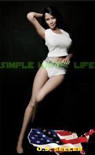1/6 CK white Tank Top & Underwear for Phicen Hot Toys Kumik Female Body ❶ USA ❶