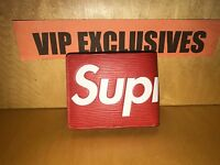 Louis Vuitton x Supreme Red Leather PF Slender Wallet IN HAND SOLD OUT NWT & Bo