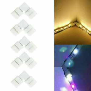 LED Strip Light Corner Connectors RGB 5050 L Shape Adapters 90 Degree Joint UK