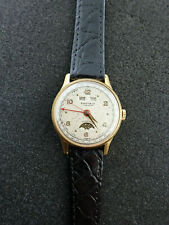 VINTAGE SHEFFIELD WRISTWATCH TRIPLE DATE MOONPHASE FULLY SERVICED CAL VALJOUX 90