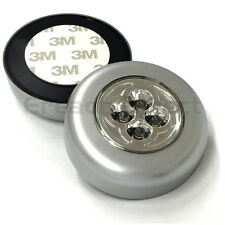 2x Stick And Click 4 LED Push Lights Battery Touch 3M Sticker WOWlights 8014B