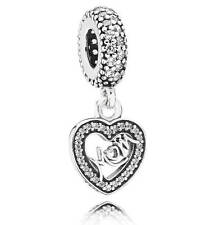 Pandora Charm Center of My Heart Mom Charm, Mother Bracelet dangle 791521CZ