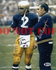Ara Parseghian Tom Clements Signed 8x10 Photo Autographed Notre Dame Reprint