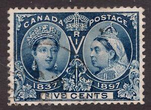 Sc #54 - Canada - Five Cent Jubilee - 1897 - Used VF -  Superfleas cv$60