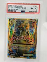Pokemon Evolutions M Charizard ex full art 101/108 PSA 8 NM-MT