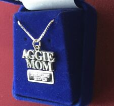 Jewelry Sterling Silver Texas A&M University Aggie Mom Necklace TAMU