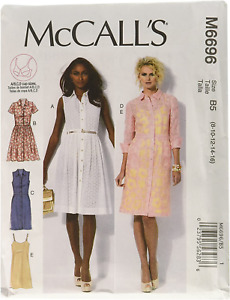 McCall's Patterns M6696 Size B5 8-10-12-14-16 Misses' Dresses and Slip, Pack of