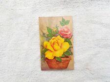 1970s Vintage Floral Design Diwali Festival Greeting Card Old Paper Collectible