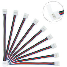 10mm 5 Pin RGBW RGBWW LED Light Strip to Strip Connector PCB Wire Adapter Cable