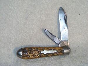 Vintage Bone Robeson Shuredge Teardrop Jack Knife - 1894- 1922