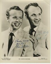 The Louvin Brothers - Country Music - 8x10 Photograph Signed by Both