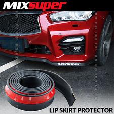 MIXSUPER Rubber Front Bumper Lip Splitter Chin Spoiler Body Skirt Protector EZ