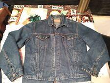 Levi'S Denim Trucker Jacket Flannel Blanket Lined 42 (M-L) 71506 0316 Usa Made