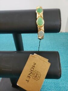 Monet Bracelet New With Tags Goldc Tone And Green Adjustable