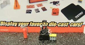 BATTERY CART W/BATTERY AND CABLES ++ GARAGE SHOP ACCESSORY1:24 (G) SCALE Diorama