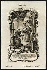 santino incisione 1700 S.FELICE DA CANTALICE  klauber