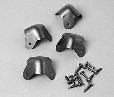 Metal Cabinet Corners- One Set of Four Three Leg- Black   RH-1510TB