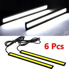 6 12V Led Strip DRL Daytime Running Lights Fog Cob Car Lamp Day Driving Adhesive