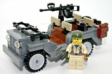 World War 2 American Willy's Jeep WW2 w/ minifigure made with real LEGO® bricks
