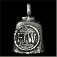 Pewter Motorcycle Gremlin Bell FTW F*ck the World For the Win Made in the USA