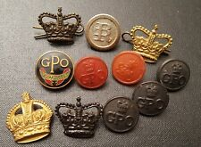 More details for vintage gpo bundle general post office badge button pin collection