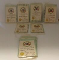 BSA: Lot of Issued Merit Badge Cards From The 70's