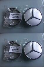 ORIGINALE Mercedes-Benz lega ruota centro AMG COPRIMOZZI x 4 MATT BLACK 9283