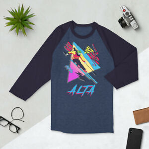 Skiing Shirt, Retro Ski Utah, Skier Gift, Vintage Alta, 3/4 sleeve raglan shirt