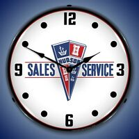 Hudson Sales and Service Wall Clock, LED Lighted