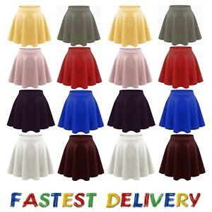 Women's high waist pleated casual tennis style mini skater skirt_Ponte