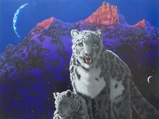 "SCHIM SCHIMMEL ""A MOTHER'S LOVE"" SNOW LEOPARD - SERIGRAPH, LTD. ED. 395, COA"