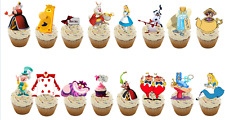 21 Alice In Wonderland STAND UP Edible Cupcake Topper Edible Decorations Precut