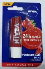 Nivea Lip Balm With Natural Oil 24 Hour Moisturization Pomegranate-Shine  4.8 gm