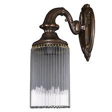 Wandleuchter Wandlampe Lampe Messing Glas Jugendstil Art Deco Glamour Antik