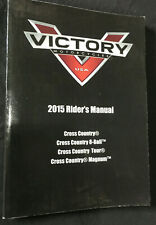 OEM Polaris VICTORY 2015 Cross Country Rider's Manual Book #  9925277