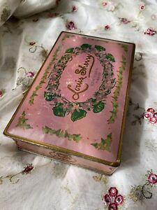 VTG Louis Sherry New York Paris CanCo Tin Metal Hinged Box 1920's Pink Lavender