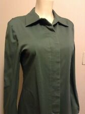 ESPRIT GREEN MILITARY MOD FULLY LINED STRETCH CLASSIC TRENCH COAT SIZE S