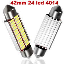 2 LAMPADINE SILURO C5W 42mm 24 LED 4014 NON DA ERRORE LUCI AUTO TARGA ecc CANBUS