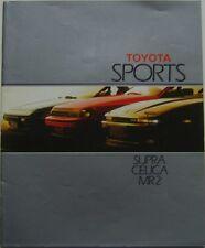 Toyota Range Sports Supra Celica MR2 1986-87 original UK Sales Brochure No 90427