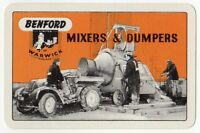 Playing Cards Single Card Old BENFORD MIXERS DUMPERS Construction Advertising 2