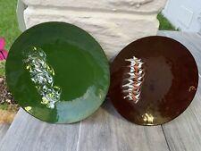 Vintage Enamel Metal Plates By Orit Israel, Set Of 2