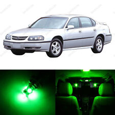 12 x Green LED Interior Light Package For 2000-2005 Chevrolet Chevy Impala