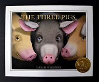 The Three Pigs by David Wiesner (2001, Hardcover)